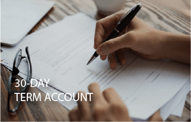 30 day Term Account